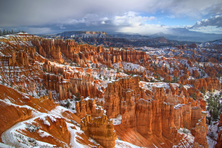 Bryce Canyon Morning with Snow