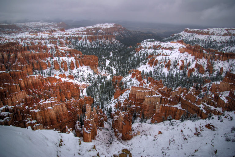 A Thanksgiving Snowstorm in Bryce Canyon