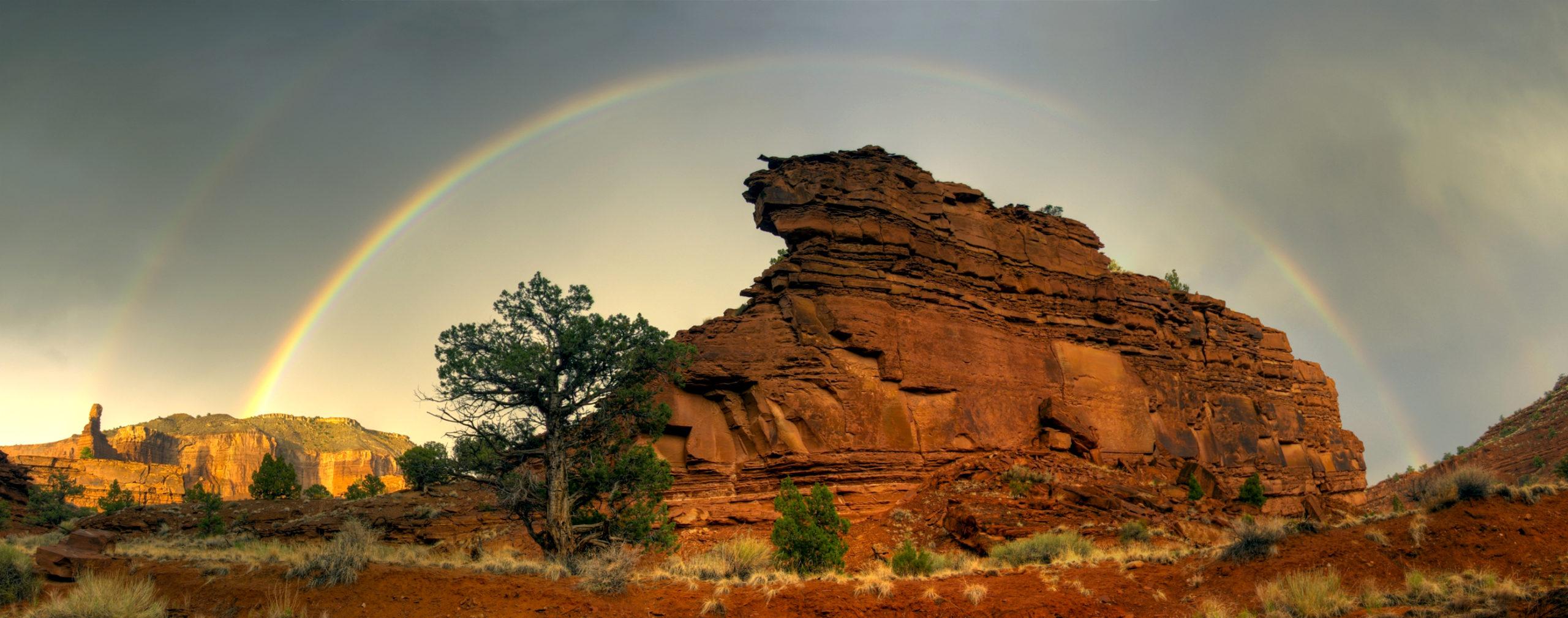 Capitol Reef Rainbow Panorama