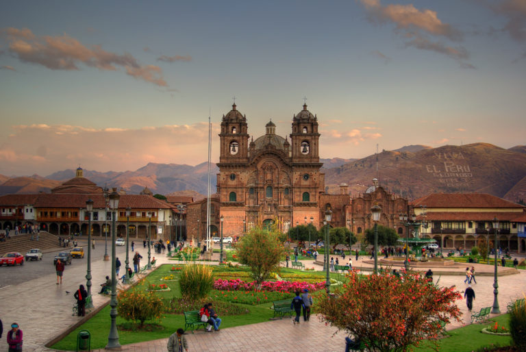 Plaza de Armas, the Church of the Company of Jesus