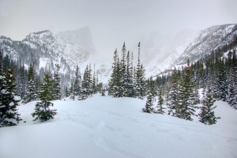 Hallett Peak in Winter