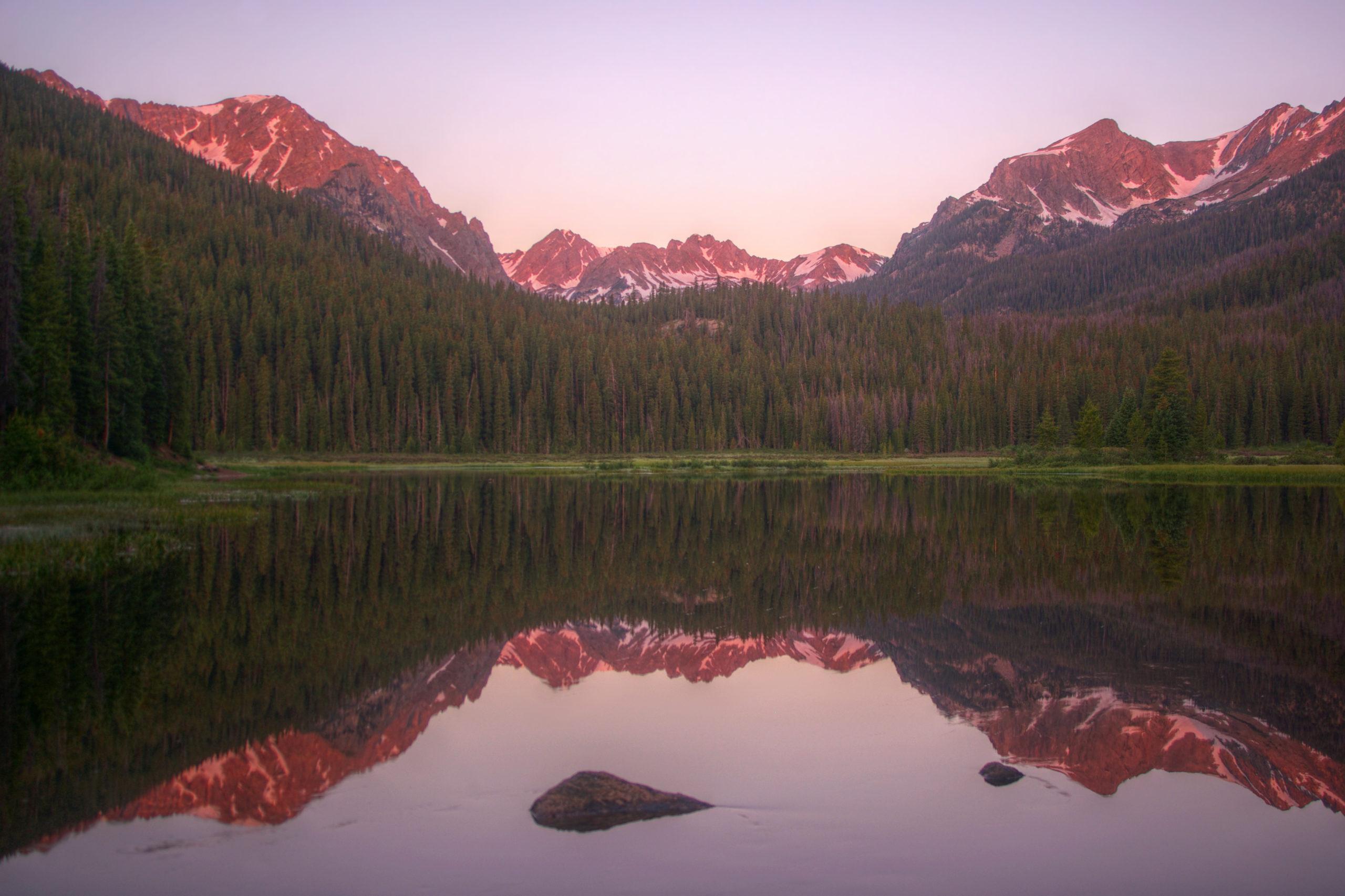 Sunrise at Boulder Lake