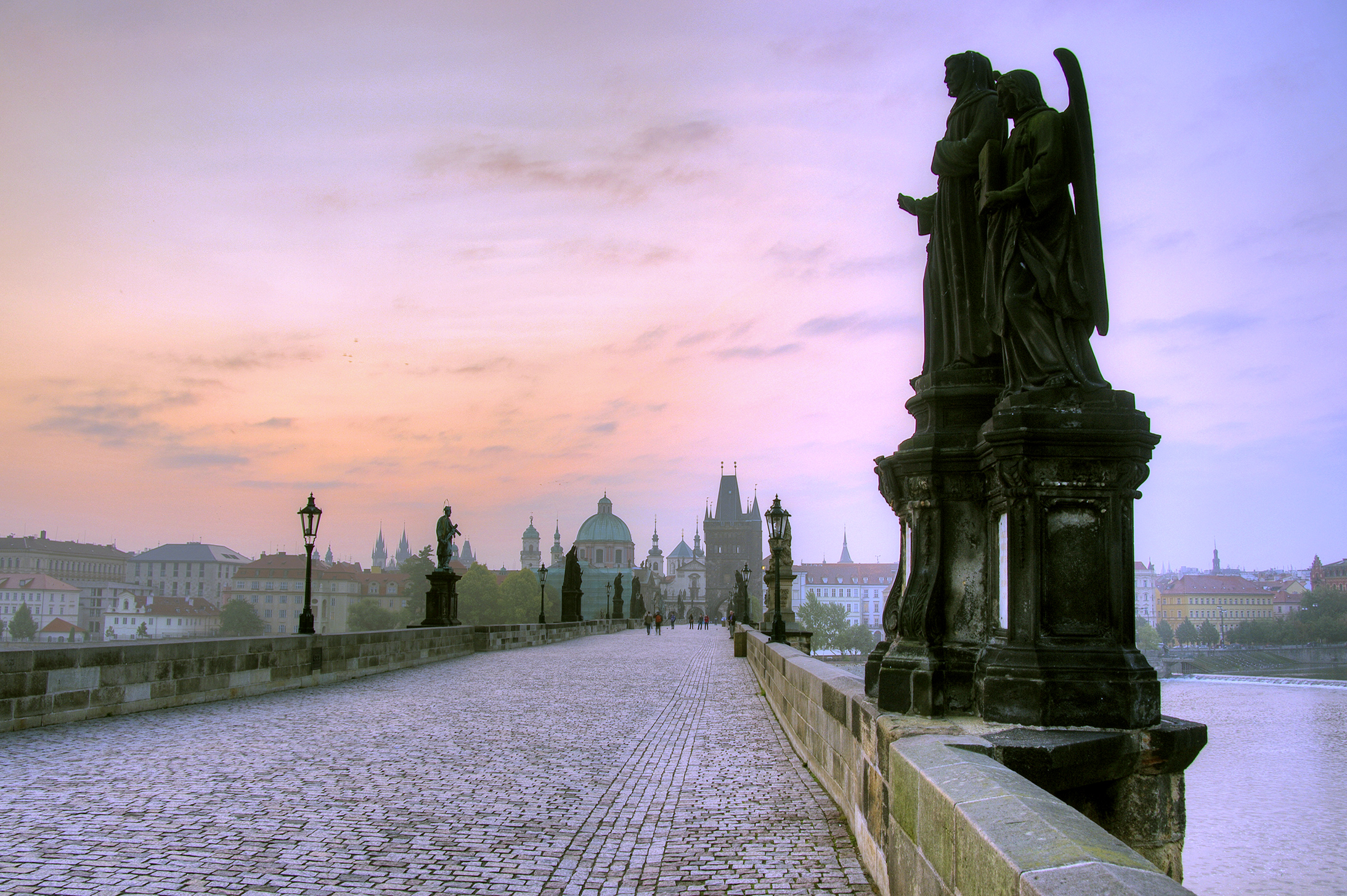 Charles Bridge at Sunrise