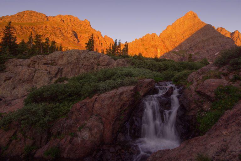 Crestone Needle and Waterfall