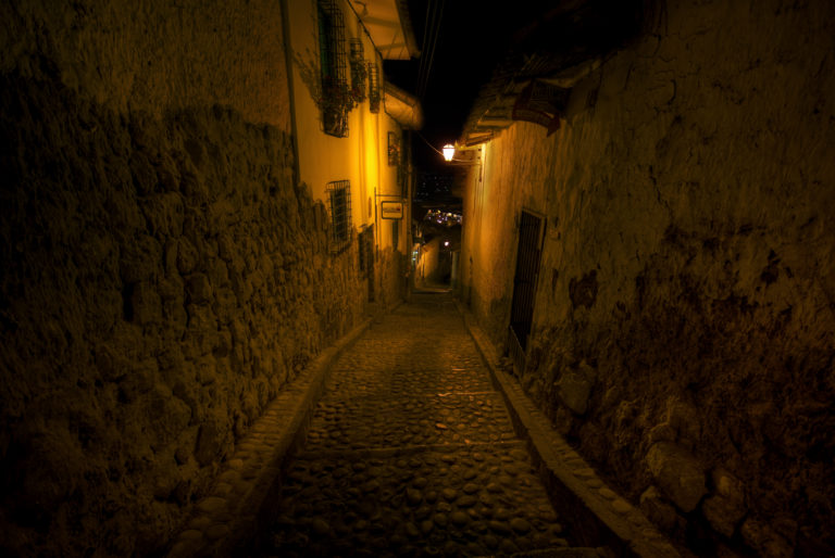 Cusco Alley at Night