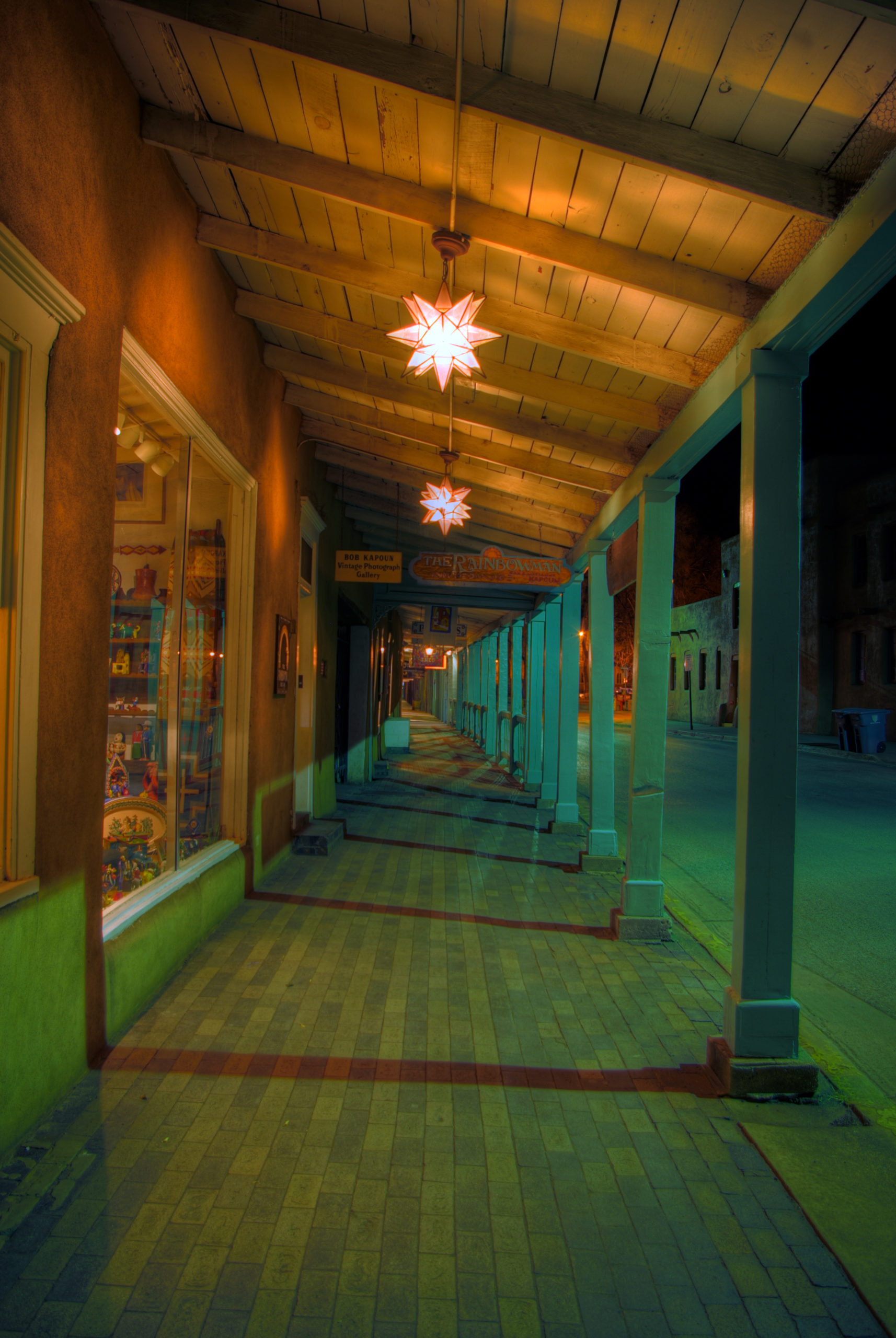 East Palace Ave at Night