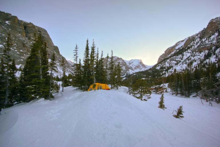 Loch Vale Winter Campsite