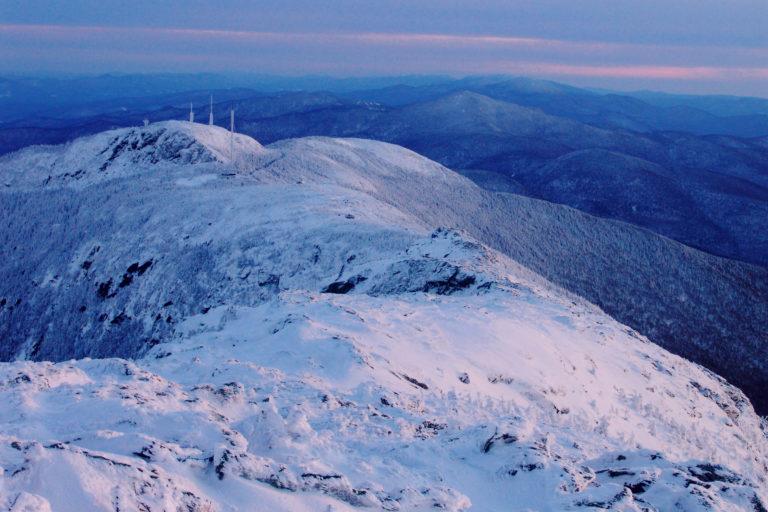 Mt. Mansfield Winter Sunset