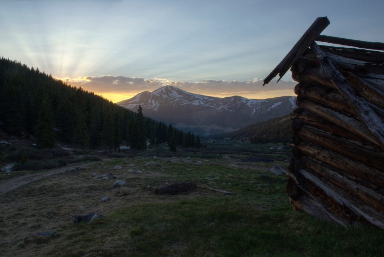 Sunset at Mayflower Gulch