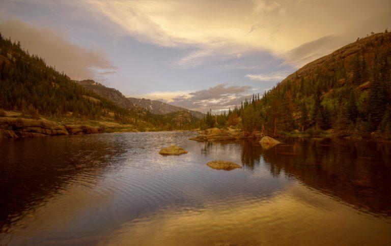 Stormy Sunset at Mills Lake
