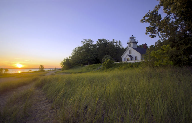 Mission Point Lighthouse at Sunrise