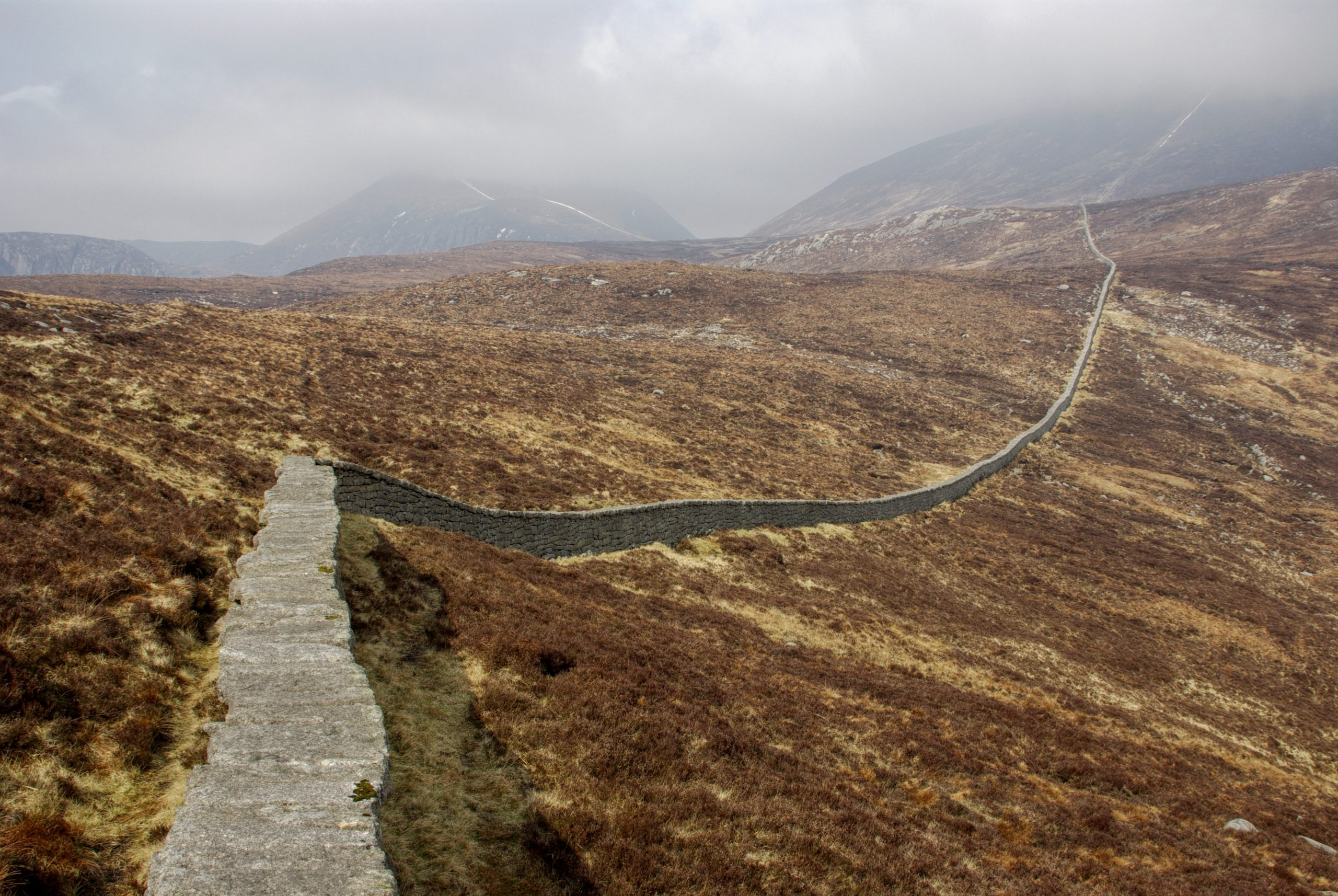 Mourne Wall on Slieve Donard