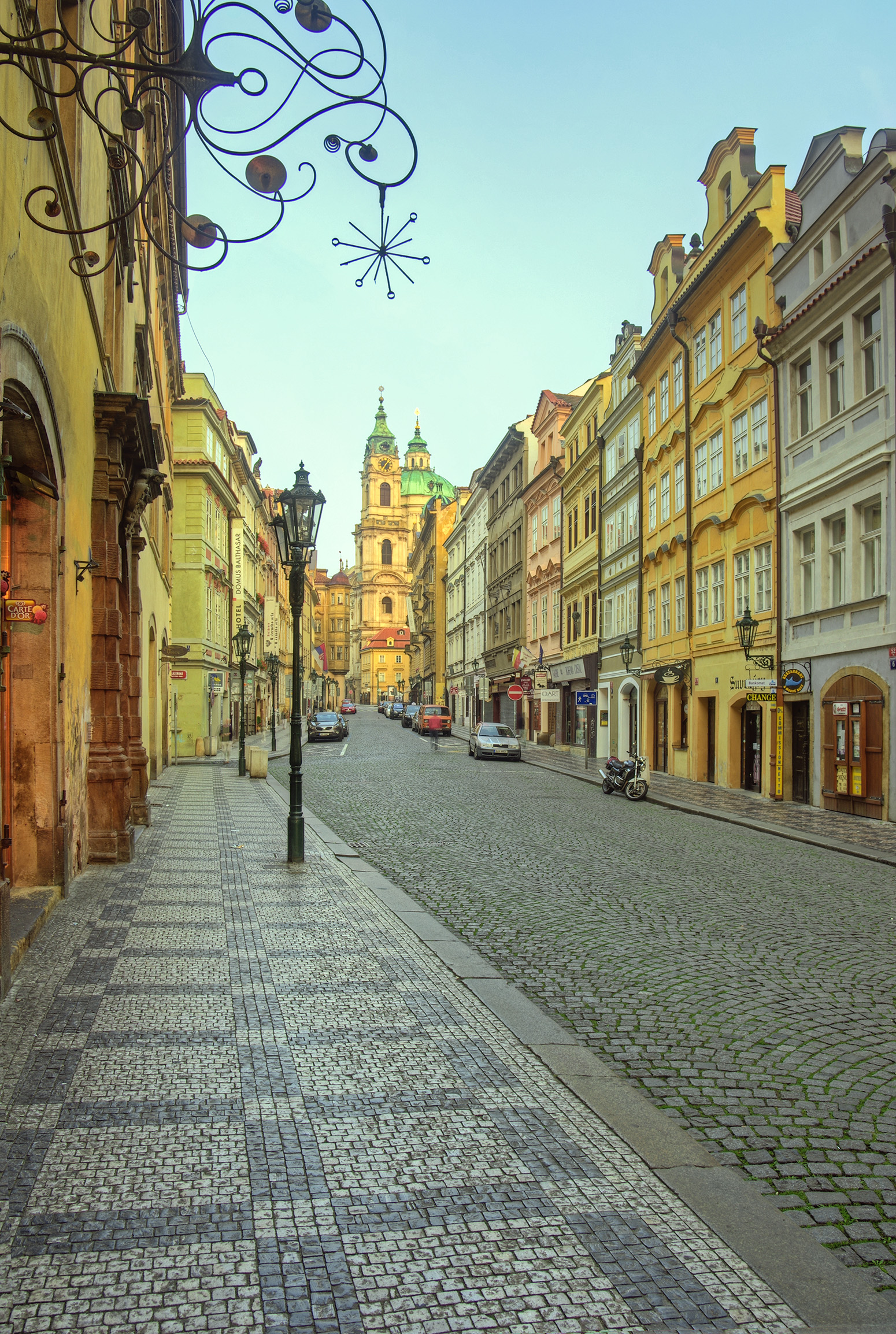 Mostecká Street in the Morning