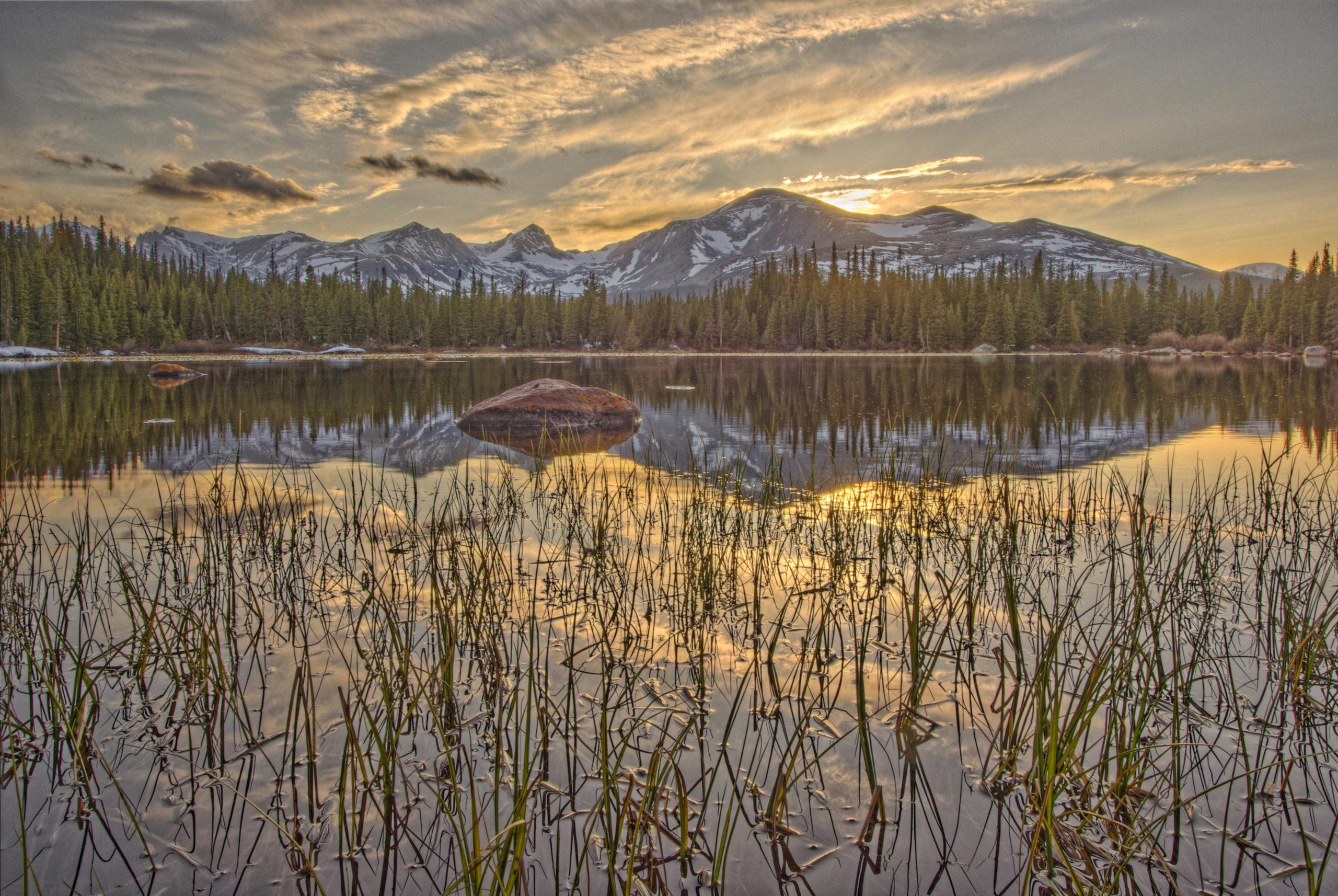 Red Rock Lake Sunset