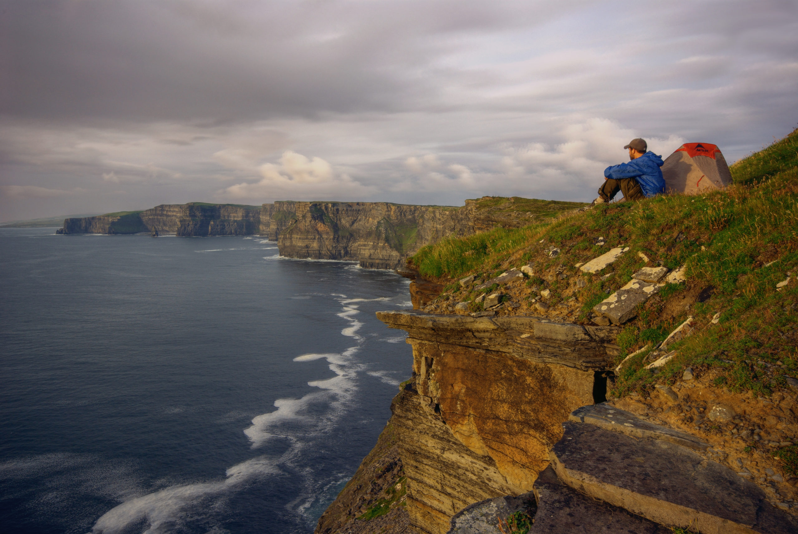 Camping on the Cliffs of Moher
